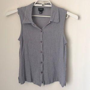 Eileen Fisher sleeveless blouse GUC size petite M